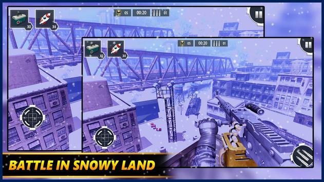 Gunner WinterLand War Guns Simulator : War weapons screenshot 13