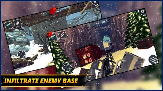 Gunner WinterLand War Guns Simulator : War weapons screenshot 2