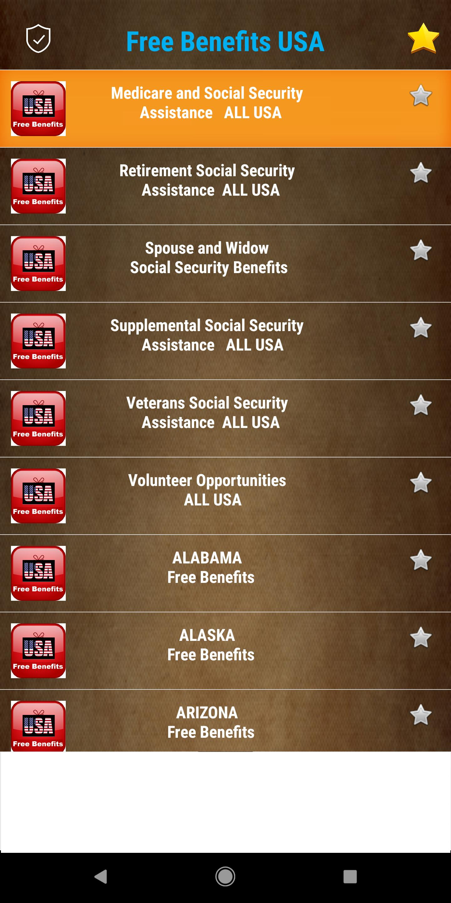 Free Benefits from US Government - All States for Android