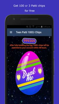 3 Patti 100Cr Free Chips poster