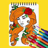 Happy Coloring - Girls Coloring Book icon