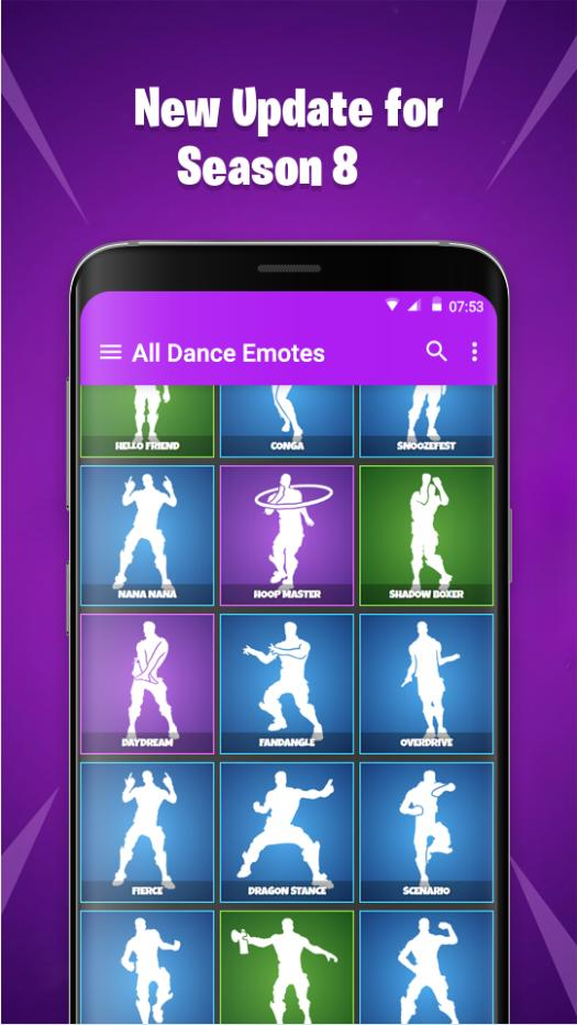 Daydream Fortnite Emote Music Dances Emotes From Fortnite Battle Royale For Android Apk Download