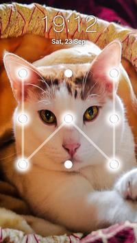 Kitty Cat Pattern Lock Screen screenshot 3