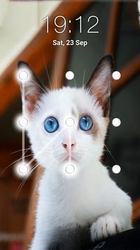 Kitty Cat Pattern Lock Screen screenshot 2