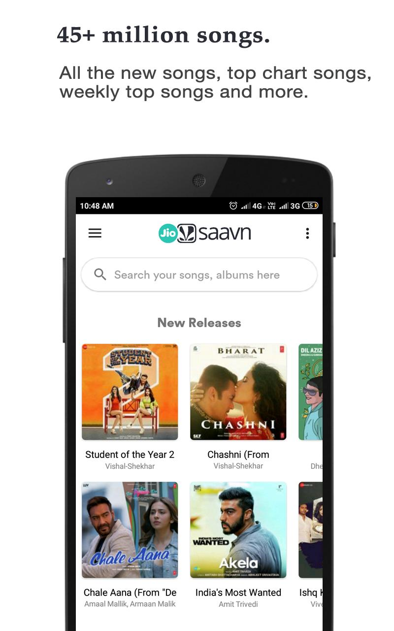 JioSaavn Free Songs Download, Including JioMusic for Android