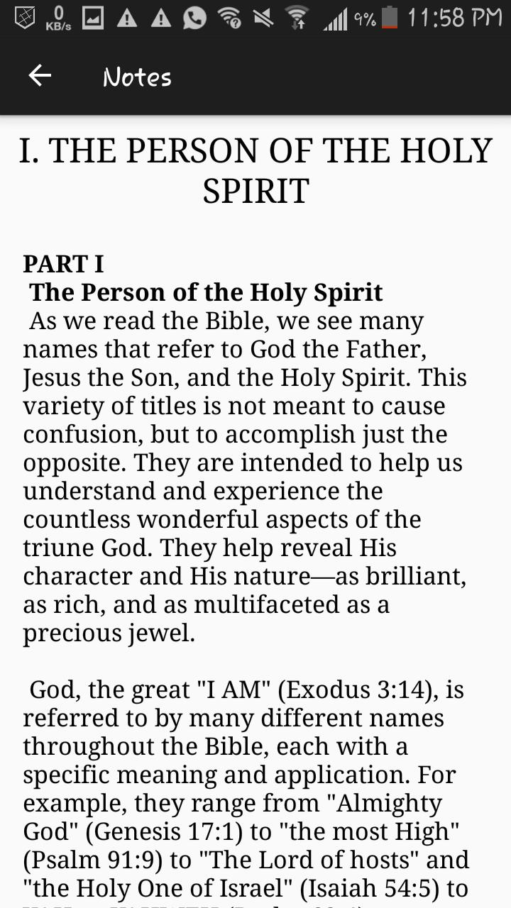 Going Deeper with the Holy Spirit by Benny Hinn for Android