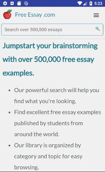 Free Essays, Research Papers, Term Papers poster