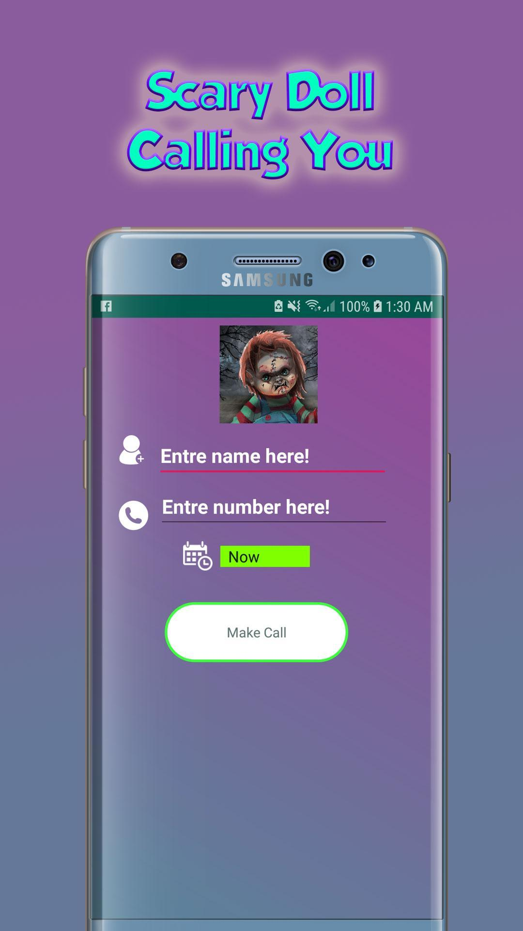 Scary Doll Calling You - Free Fake Phone Call 2019 for Android - APK