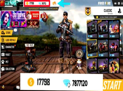 Guide for Free Fire Coins & Diamonds poster