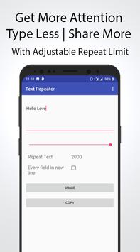 Text Repeater screenshot 4