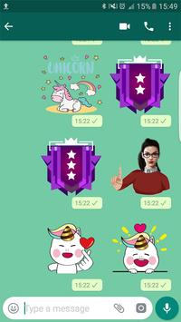 StickerApps : PG&FF&unico Stickers For Whatsapp screenshot 1