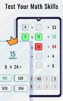 Permainan Matematik dan teka-teki - Latihan otak syot layar 3