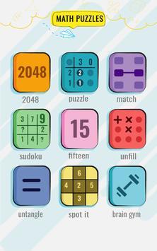 Permainan Matematik dan teka-teki - Latihan otak syot layar 6