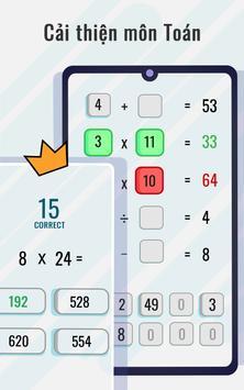 Trò chơi toán học và câu đố - Rèn luyện não ảnh chụp màn hình 3