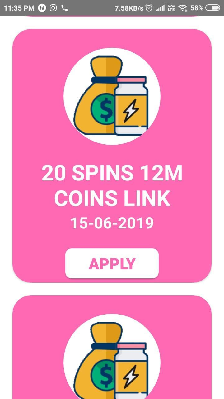 Spin Gift :Daily free spin and coin for Pig master for