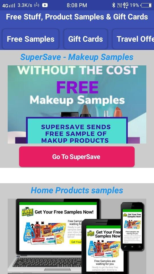 Free Stuff, Product Samples & Gift Cards for Android - APK