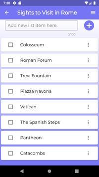 Listful - Checklist screenshot 1