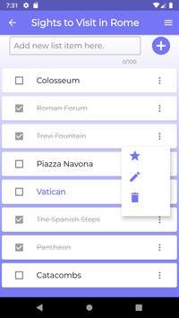 Listful - Checklist screenshot 2
