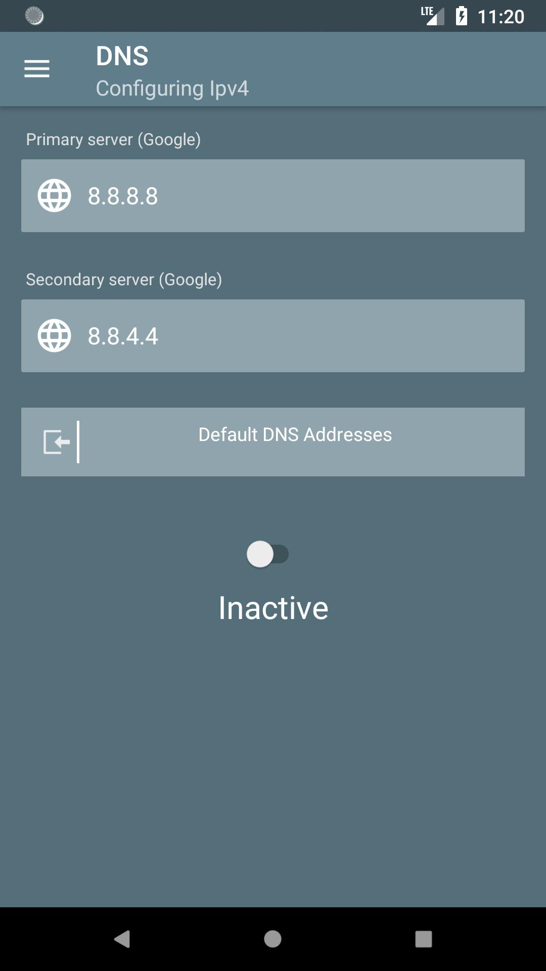 dnspipe - change your dns (No Root - IPv6) for Android - APK