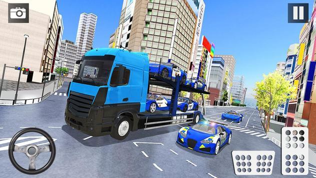 Car Transporter Truck Simulator-Cargo Truck Driver screenshot 17