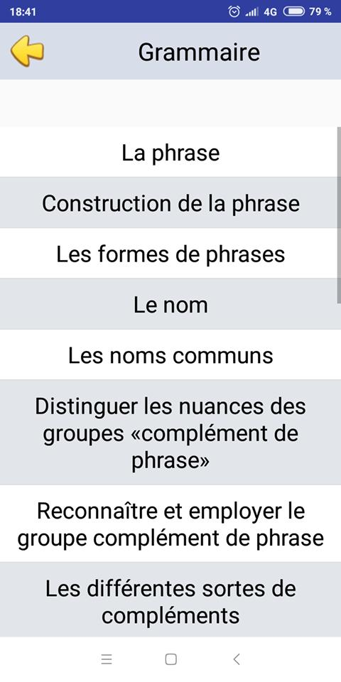 Francais 6eme Annee Primaire For Android Apk Download