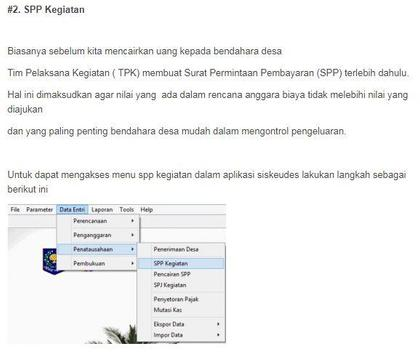 Siskeudes - Panduan Penatausahaan screenshot 2