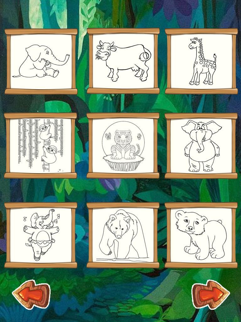 Hewan Mewarnai Buku Permainan Pendidikan App For Android