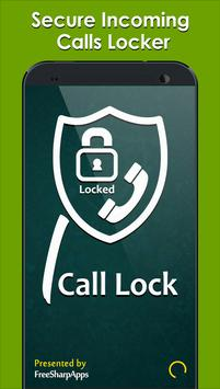 Secure Incoming Calls Lock Privacy poster