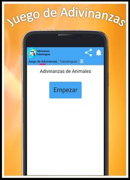 Juego de Adivinanzas, Trabalenguas y más screenshot 1