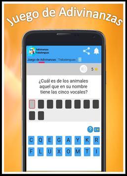 Juego de Adivinanzas, Trabalenguas y más screenshot 3