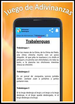 Juego de Adivinanzas, Trabalenguas y más screenshot 4
