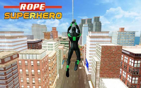 4 Schermata Amazing Rope Hero - City Spider