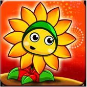 Flower Zombie War icon