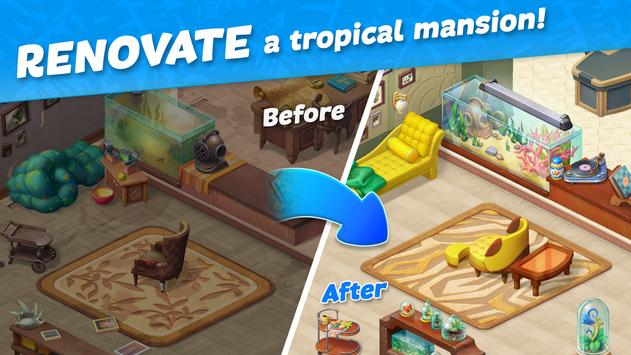 Hawaii Match-3 Mania Home Design & Matching Puzzle screenshot 7