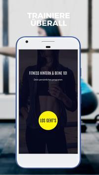 Traum Hintern 101 Fitness - Tägliches Po-Training Plakat