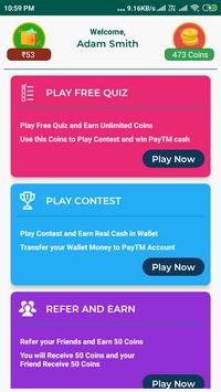 Top Quiz Trivia - Earn Real PayTM Money poster