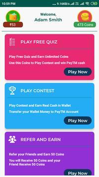 Top Quiz Trivia - Earn Real PayTM Money screenshot 12