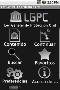 Ley General de Protección Civi poster