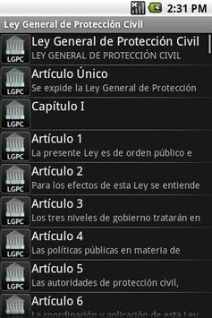 Ley General de Protección Civi screenshot 1