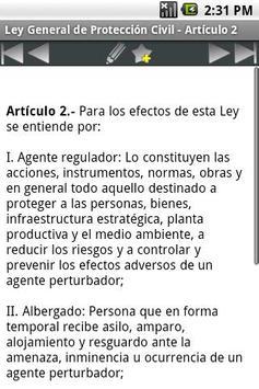 Ley General de Protección Civi screenshot 2