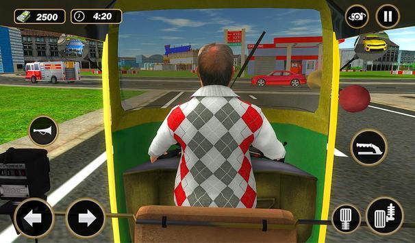 Şehir Tuk Tuk Otomatik Rickshaw Sürücü 3D Sim 2018 Ekran Görüntüsü 14