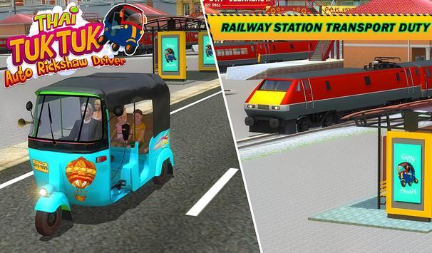Şehir Tuk Tuk Otomatik Rickshaw Sürücü 3D Sim 2018 Ekran Görüntüsü 15