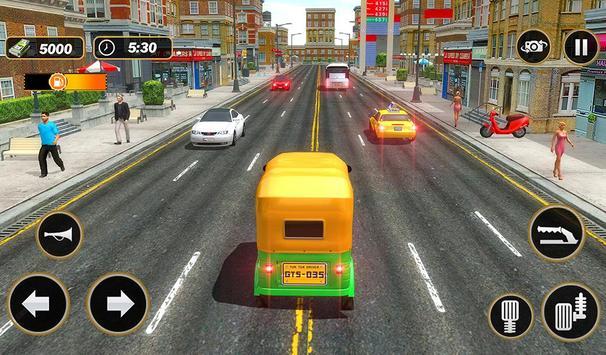 Şehir Tuk Tuk Otomatik Rickshaw Sürücü 3D Sim 2018 Ekran Görüntüsü 16