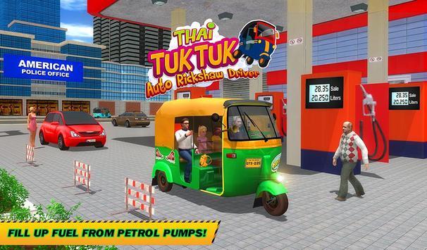 Şehir Tuk Tuk Otomatik Rickshaw Sürücü 3D Sim 2018 Ekran Görüntüsü 17