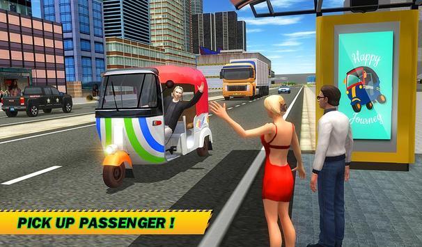 Şehir Tuk Tuk Otomatik Rickshaw Sürücü 3D Sim 2018 Ekran Görüntüsü 12