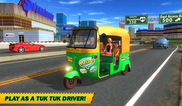 Şehir Tuk Tuk Otomatik Rickshaw Sürücü 3D Sim 2018 Ekran Görüntüsü 13