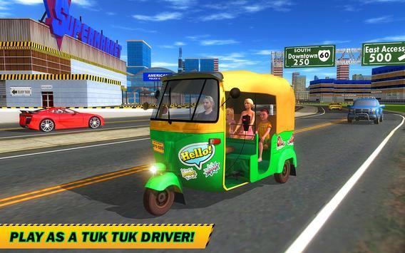 Şehir Tuk Tuk Otomatik Rickshaw Sürücü 3D Sim 2018 Ekran Görüntüsü 7