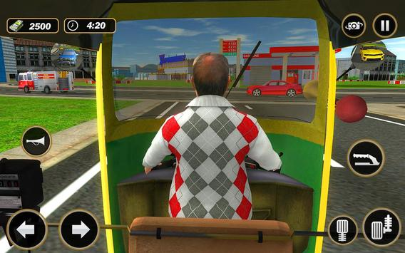 Şehir Tuk Tuk Otomatik Rickshaw Sürücü 3D Sim 2018 Ekran Görüntüsü 8