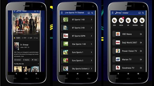 Guide Hotstar - Live Free TV HD Hotstar 2020 screenshot 1