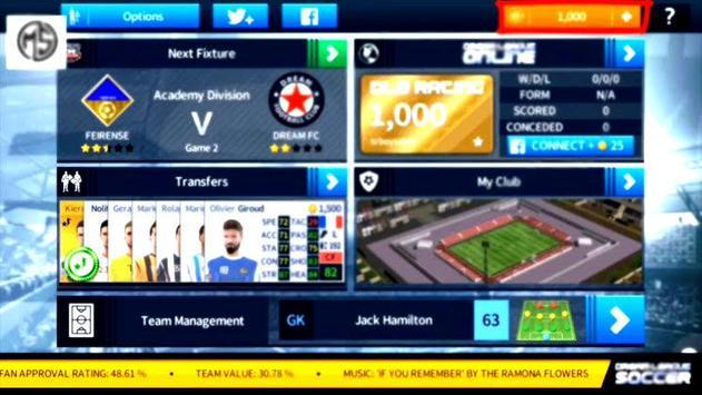 Guide For Dream League Soccer 2019 New DLS screenshot 1